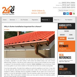 Why Is Gutter Installation Important for a Home?