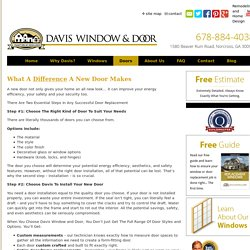 Door Installation or Replacement Services GA - Daviswin.com