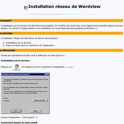 Installation réseau de WordView