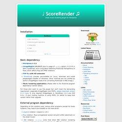 Installation « %u2669 ScoreRender %u266B