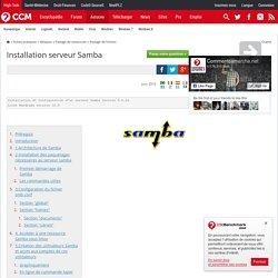 Installation serveur Samba