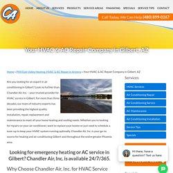 Certified Technician For HVAC Service In Gilbert