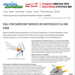 TV Aerial Installation & Aerial Services in Sheffield - Aerial & Satellite Express