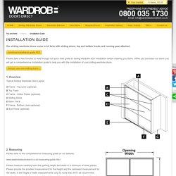 Installation guide for sliding wardrobe door