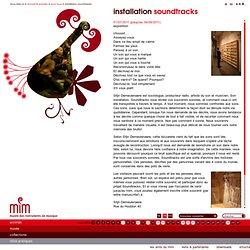 installation soundtracks | le mim, musée des instruments de musique