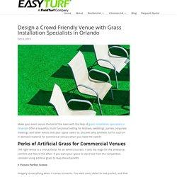 Design a Crowd-Friendly Venue with Grass Installation Specialists in Orlando - Artificial Grass in Orlando, FL