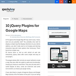 10 jQuery Plugins for Easier Google Map Installation