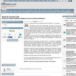 Sortie de Joomla! 3.0.0, responsive design, installation simplifiée et nouveau module de statistiques