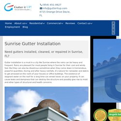 Gutters Sunrise