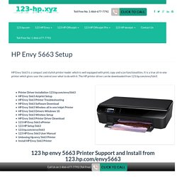 HP Envy 5663 setup & installation support