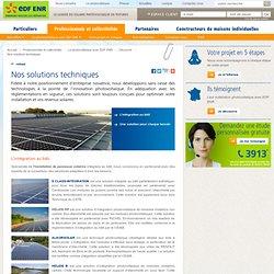 Installation panneau solaire - Nos solutions techniques