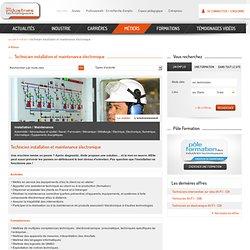 Fiche Métier - Technicien installation et maintenance électronique