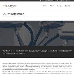 CCTV Installation Service – TeleCentric