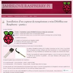 Installation d'un capteur de température 1-wire DS18B20 sur Raspberry – partie 1