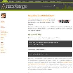 NGinx sous Ubuntu