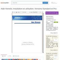 Aide Heredis. Installation et utilisation. Versions Standard et Pro