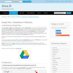 Google Drive : Installation et Utilisation