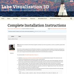 Topic: Complete Installation Instructions