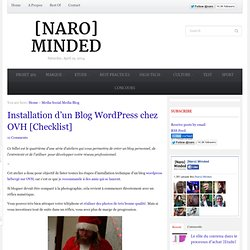 Installation d'un Blog Wordpress chez OVH [Checklist]