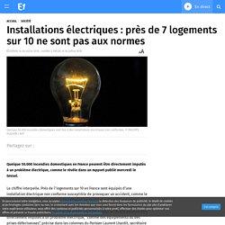Installations électriques : près de 7 logements sur 10 ne sont pas aux normes