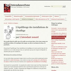 L'équilibrage des installations de chauffage - IntendanceZone