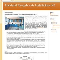 Maintenance Guidelines for your Kitchen Rangehoods NZ
