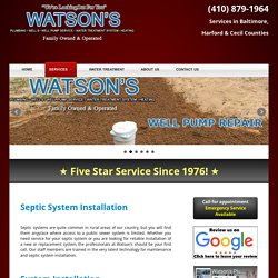 Septic Repair Cockeysville MD