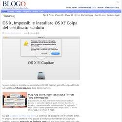 Problemi Installazione OS X