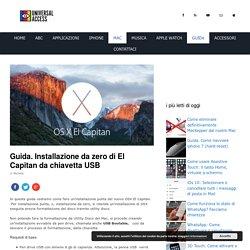 Guida. Installazione da zero di El Capitan da chiavetta USB