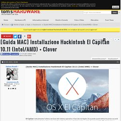 [Guida MAC] Installazione Hackintosh El Capitan 10.11 (Intel/AMD) + Clove​r