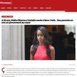 A 18 ans, Malia Obama s'installe seule à New-York... Ses parents en ont un pincement au cœur - Culturebene