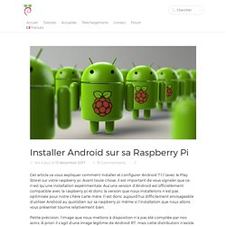 Installer Android sur sa Raspberry Pi