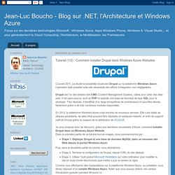 Tutorial (1/2) : Comment installer Drupal dans Windows Azure Websites