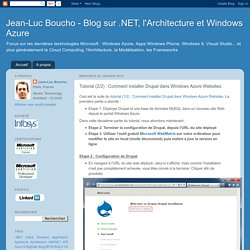 Tutorial (2/2) : Comment installer Drupal dans Windows Azure Websites