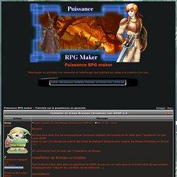 Installer et Creez Brosses (brushes) sur GIMP 2.6