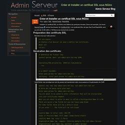 Créer et Installer un certificat SSL sous NGinx