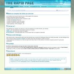 FAQ - Installer un compteur de visites sur votre site