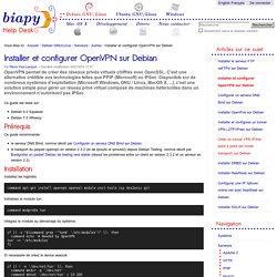 Installer et configurer OpenVPN sur Debian