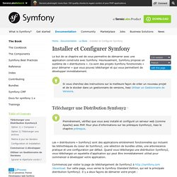 Installer et Configurer Symfony (The Symfony Book)