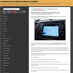 Installer radars sur Nissan Connect