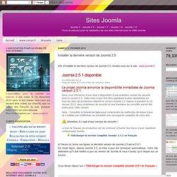Installer la dernière version de Joomla 2.5