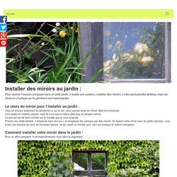 Installer des miroirs au jardin: