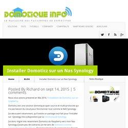 Installer Domoticz sur un Nas Synology