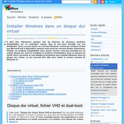 Installer Windows dans un disque dur virtuel