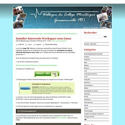Installer Interwrite Workspace sous Linux