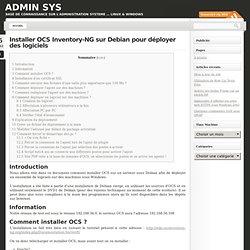 Installer OCS Inventory-NG sur Debian pour déployer des logiciels