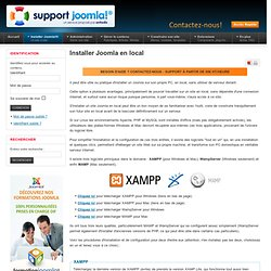 Installer Joomla en local