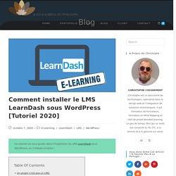 Comment installer le LMS LearnDash sous WordPress [Tutoriel 2020] - La boite à idées de Christophe