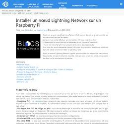 Installer un nœud Lightning Network sur un Raspberry Pi