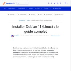 Installer Linux (Debian 10) : le guide complet